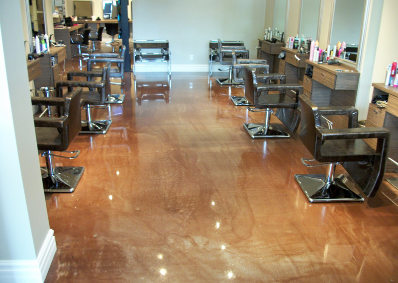 hair salon polyurea floor coating
